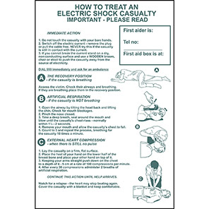 Spectrum Industrial How To Treat An Electric Shock Safety Poster