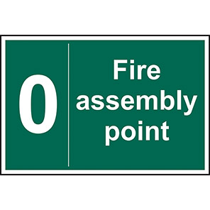 Fire Assembly Point 0 Sign