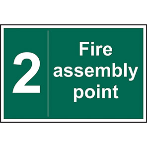 Fire Assembly Point No 2 Sign
