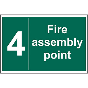 Fire Assembly Point No 4 Sign