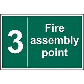Fire Assembly Point No 3 Sign