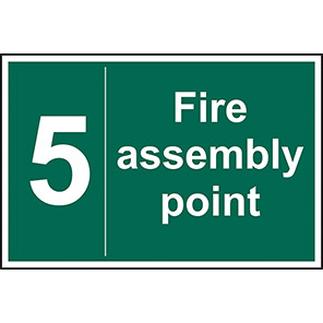 Fire Assembly Point No 5 Sign