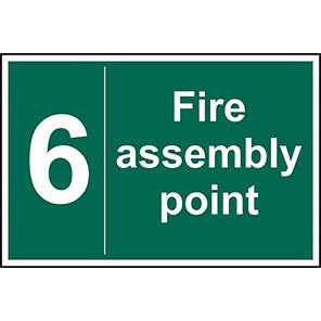 Fire Assembly Point No 6 Sign