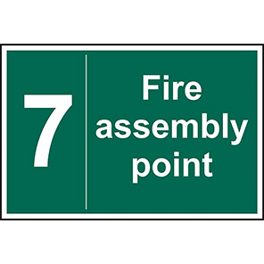 Fire Assembly Point No 7 Sign