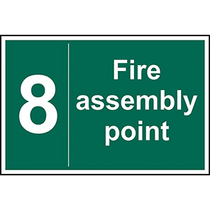 Fire Assembly Point No 8 Sign
