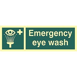 Photoluminescent Emergency Eyewash Sign