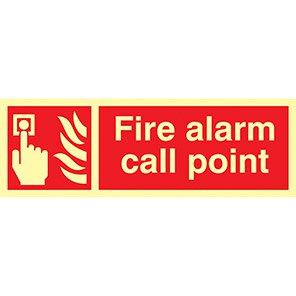 "Spectrum Industrial Photoluminescent ""Fire Alarm Call Point"" Sign"