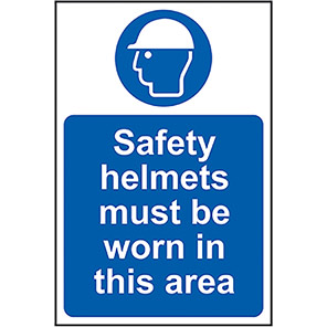 """Spectrum Industrial Correx """"Safety Helmets Must Be Worn In This Area"""" Sign"""