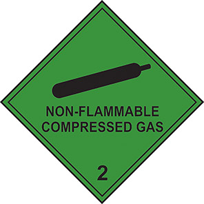 "Spectrum Industrial ""Non-Flammable Compressed Gas"" Hazard Diamond (Pack of 10)"