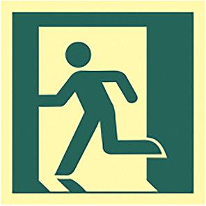 Spectrum Industrial Photoluminescent Left Running Man Sign