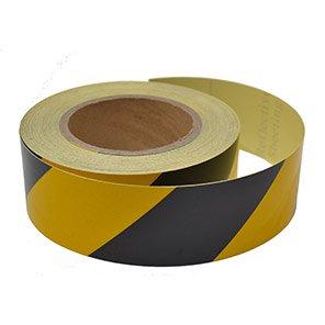Black/Yellow Reflective Tape 25m