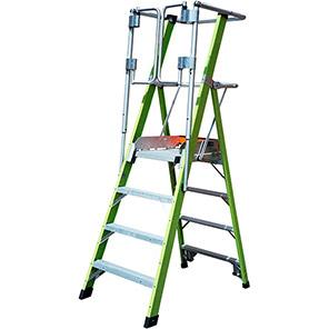 Little Giant Fibreglass Safety Cage Podium Ladder