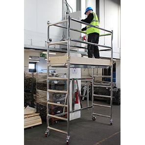 TB Davies Centrefold Work Platform with Guardrail