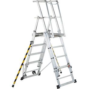 ZARGES Z 600 ZAP 7-Tread Telescopic Platform Ladder (2.86m)