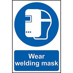 "Spectrum Industrial ""Wear Welding Mask"" Sign"