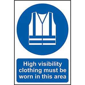 Hi-Vis Jackets Must Be Worn In This Area Sign