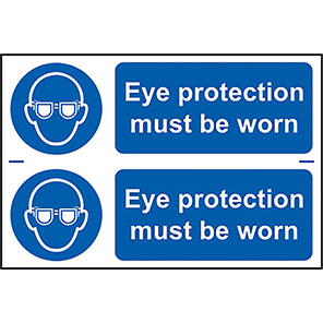 """Spectrum Industrial """"Eye Protection Must Be Worn"""" Sign (Pack of 2)"""