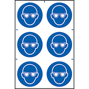 Spectrum Industrial Eye Protection Symbol Sign (Pack of 6)