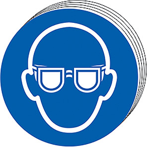 Spectrum Industrial Eye Protection Symbol Sign 100mm (Pack of 10)