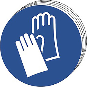 Spectrum Industrial Hand Protection Symbol Sign 50mm (Pack of 10)