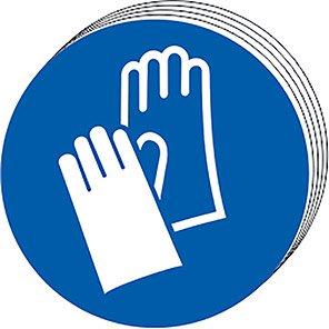 Spectrum Industrial Wear Gloves Symbol Sign 100mm (Pack of 10)
