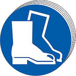 Spectrum Industrial Protective Footwear Symbol Sign 50mm (Pack of 10)