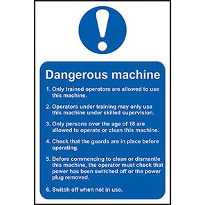 Spectrum Industrial Dangerous Machine Safety Sign