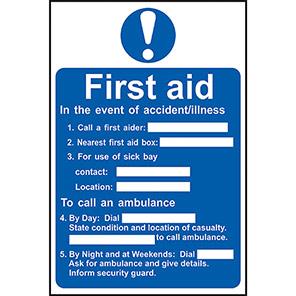 First Aid Procedure