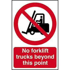 No Forklift Trucks Prohibition Sign