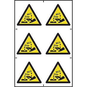 Spectrum Industrial Self-Adhesive Corrosive Symbol (Pack of 6)
