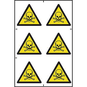 Spectrum Industrial Danger Of Death Symbol (Pack of 6)