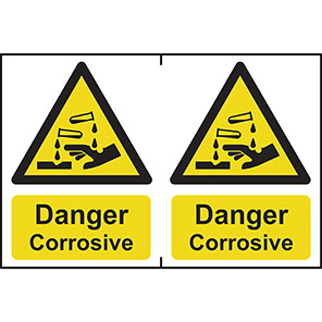 "Spectrum Industrial ""Danger Corrosive"" Sign (Pack of 2)"