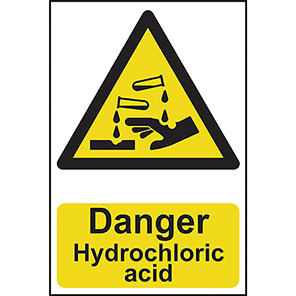 "Spectrum Industrial ""Danger Hydrochloric Acid"" Sign"