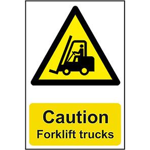 "Spectrum Industrial ""Caution Forklift Trucks"" Sign"