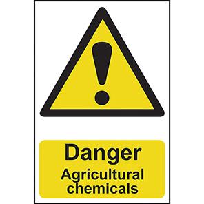 "Spectrum Industrial ""Danger Agricultural Chemicals"" Sign"
