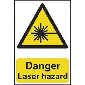 """Spectrum Industrial """"Danger Laser Hazard"""" Sign"""