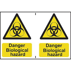 "Spectrum Industrial ""Danger Biological Hazard"" Sign (Pack of 2)"
