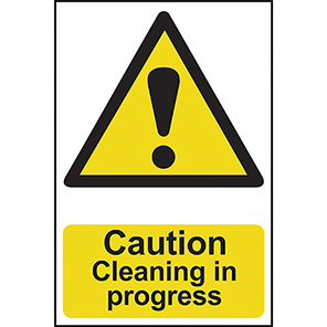 """Spectrum Industrial """"Caution Cleaning In Progress"""" Sign"""