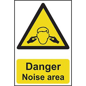 """Spectrum Industrial """"Danger Noise Area"""" Sign"""
