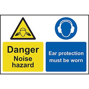 "Spectrum Industrial ""Danger Noise Hazard Ear Protection Must Be Worn"" Sign"