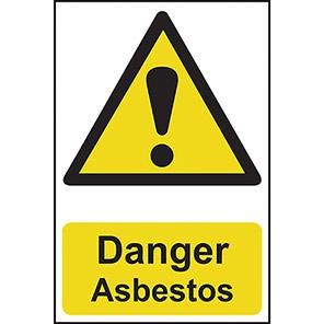 """Spectrum Industrial """"Danger Asbestos"""" Sign"""