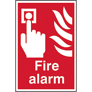 Fire Alarm with flame Signs