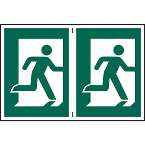 Spectrum Industrial Right Running Man Sign (Pack of 2)