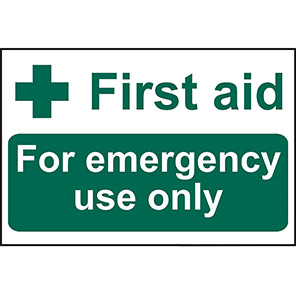 """Spectrum Industrial """"First Aid Emergency Use Only"""" First Aid Sign"""