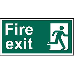 Fire Exit Running Man