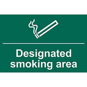 """Spectrum Industrial """"Designated Smoking Area"""" Sign"""