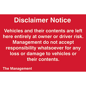Spectrum Industrial Vehicles/Contents Warning Sign