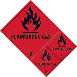 "Spectrum Industrial ""Flammable Gas 2"" Hazard Warning Diamond (Pack of 3)"