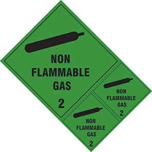 "Spectrum Industrial ""Non-Flammable Gas 2"" Hazard Warning Diamond (Pack of 3)"