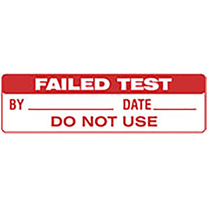"""Spectrum Industrial """"Failed Test"""" Label (Pack of 80)"""
